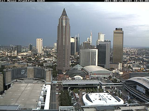 The webcam on the Frankfurt Messe shows how such weather looks.