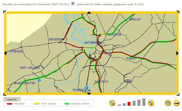 November 14th, 2007. Antwerp gridlocked again.